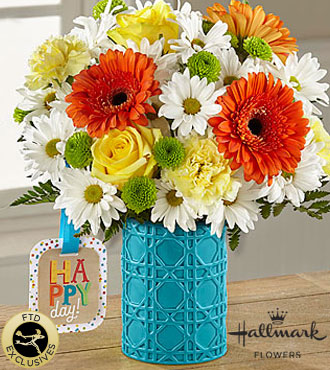 FTD Happy Day Birthday Bouquet by Hallmark - DELUXE