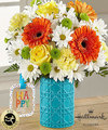 Image of Deluxe version for FTD Happy Day Birthday Bouquet by Hallmark
