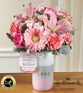 FTD Sweet Baby Girl Bouquet by Hallmark - HMG