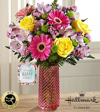 FTD Happy Moments Bouquet by Hallmark - DELUXE