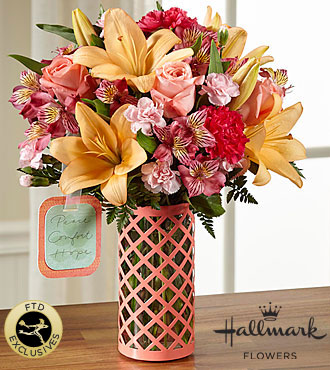 FTD Peace Comfort and Hope Bouquet by Hallmark - DELUXE
