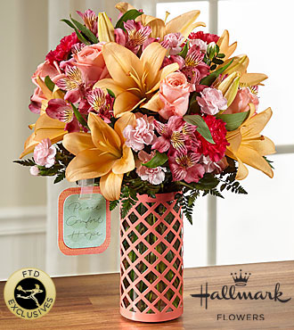 FTD Peace Comfort and Hope Bouquet by Hallmark - PREMIUM