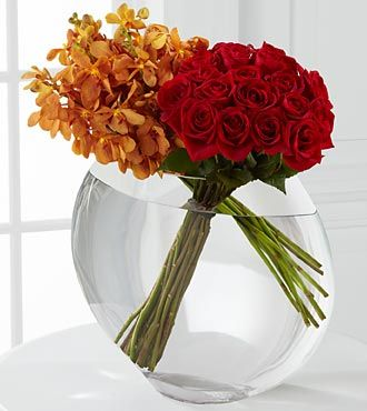 FTD Glorious Rose Bouquet - 18 Stems of 24-inch Premium Long-Stem Roses & Mokara Orchids