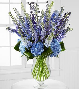 Honestly Luxury Delphinium & Hydrangea Bouquet - 31 Stems