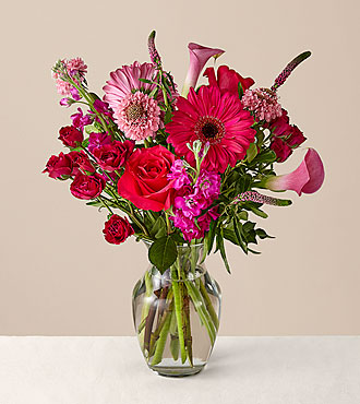 Love You More Bouquet with Vase - FedEx - MLHPK
