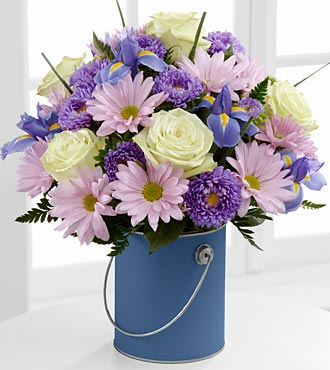 Color Your Day Tranquility Bouquet by FTD - DELUXE
