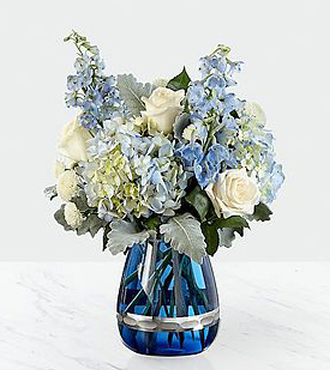 Faithful Guardian Bouquet - Blue and White - SB1