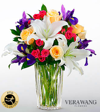 FTD New Day Dawns Bouquet by Vera Wang - DELUXE