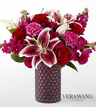 FTD Vibrant Fuchsia Bouquet by Vera Wang - DELUXE