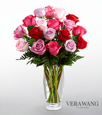FTD Captivating Color Rose Bouquet by Vera Wang - DELUXE