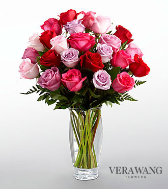 FTD Captivating Color Rose Bouquet by Vera Wang - PREMIUM