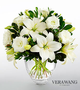 FTD White Elegance Bouquet by Vera Wang - DELUXE