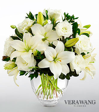 FTD White Elegance Bouquet by Vera Wang - PREMIUM