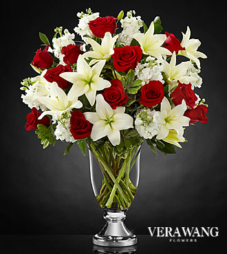 FTD Grand Occasion Bouquet by Vera Wang- VASE INCLUDED - DELUXE