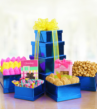 Springtime Easter Tower of goodies - WebGift