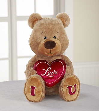I Love U Plush Teddy Bear - WebGift