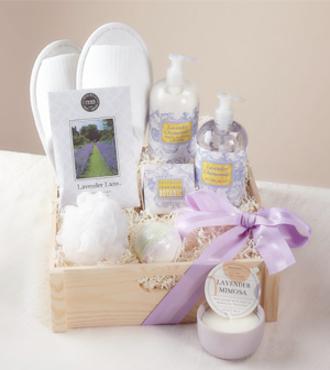 http://www.FlowersFast.com - Lavender Spa Day Gift Basket – WebGift