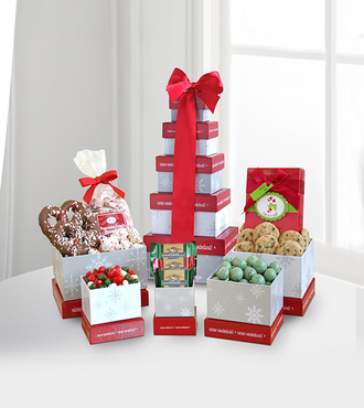 Winter Wonderland Holiday Treats Tower - WebGift - WGG406
