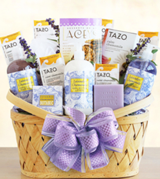 Luxurious Lavender Retreat Spa Basket - WebGift - WGG5665