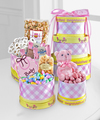 Celebrate the Baby Girl Gourmet Gift Tower - WebGift