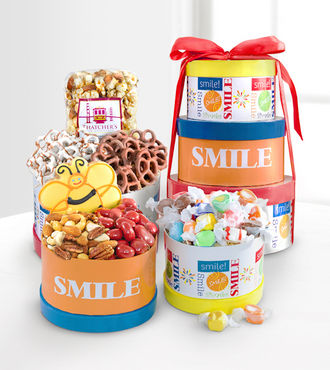 Get Set to Smile Gourmet Gift Tower - WebGift - WGG631