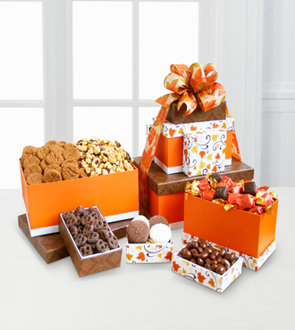 Celebrate Fall Gourmet Gift Tower - WebGift