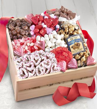 Sweet Them Off Their Feet Valentine's Gourmet Basket - WebGift