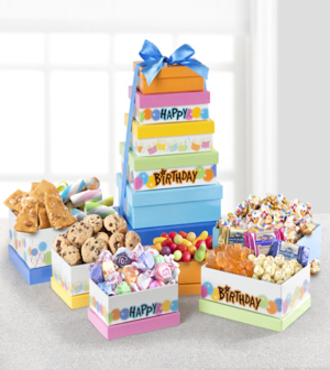 Party Sweets Gourmet Birthday Tower - WebGift - WGGF389