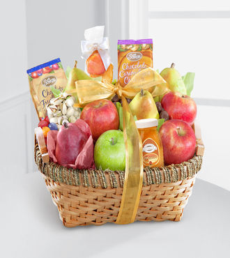 Warmhearted Wishes Fruit and Gourmet Kosher Gift Basket - WebGift - WGGF65