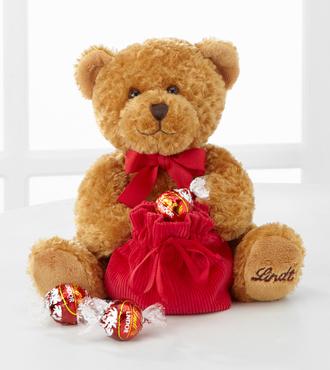 Valentine's Day Plush Teddy Bear Lindt Loveable Bear