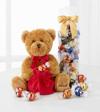 Valentine's Day Plush Teddy Bear Lindt Bear With Truffles
