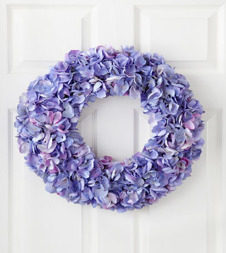 Jane Seymour Silk Botanicals Hydrangea Wreath - WebGift