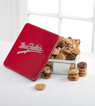 Mrs. Fields Classic Tin with 48 Assorted Nibblers - WebGift - WGX949